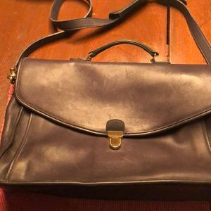 Men's Coach soft briefcase